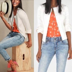 •Cabi • Castaway White Denim Jacket 5479
